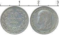 Изображение Монеты Нидерланды 10 центов 1893 Серебро XF- Вильгельмина