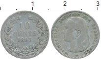 Изображение Монеты Нидерланды 10 центов 1893 Серебро XF-