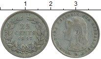 Изображение Монеты Европа Нидерланды 25 центов 1897 Серебро XF-
