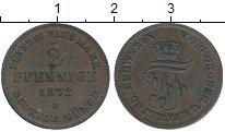 Изображение Монеты Саксе-Мейнинген 2 пфеннига 1872 Медь XF