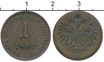 Изображение Монеты Европа Ломбардия 1 чентезимо 1862 Медь XF