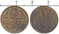 Изображение Монеты Польша 2 гроша 1930 Бронза XF
