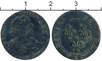 Изображение Монеты Европа Франция 2 турнуа 1639 Медь VF