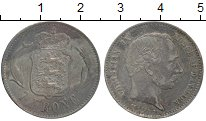 Изображение Монеты Европа Дания 1 крона 1875 Серебро XF