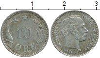 Изображение Монеты Европа Дания 10 эре 1894 Серебро XF