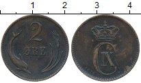Изображение Монеты Европа Дания 2 эре 1874 Медь XF