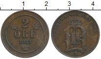 Изображение Монеты Швеция 2 эре 1883 Медь XF Оскар II