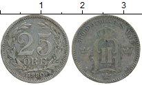 Изображение Монеты Швеция 25 эре 1880 Серебро XF-