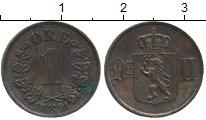 Изображение Монеты Европа Норвегия 1 эре 1891 Медь XF
