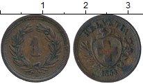 Изображение Монеты Швейцария 1 рапп 1883 Медь XF