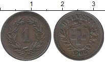 Изображение Монеты Европа Швейцария 1 рапп 1906 Медь XF