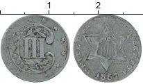 Изображение Монеты Северная Америка США 3 цента 1857 Серебро VF
