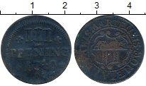 Изображение Монеты Германия Висмар 3 пфеннига 1740 Медь VF
