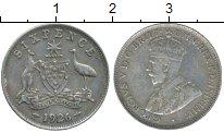 Изображение Монеты Австралия 6 пенсов 1926 Серебро XF
