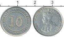 Изображение Монеты Стрейтс-Сеттльмент 10 центов 1927 Серебро XF Георг V