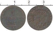 Изображение Монеты Германия Пруссия 1 пфенниг 1821 Медь XF-