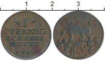 Изображение Монеты Германия Анхальт 1 пфенниг 1760 Медь XF-