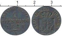 Изображение Монеты Пруссия 1 пфенниг 1828 Медь XF- А