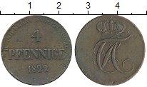 Изображение Монеты Германия Анхальт-Бернбург 4 пфеннига 1822 Медь XF