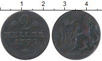 Изображение Монеты Гессен-Кассель 2 геллера 1792 Медь VF
