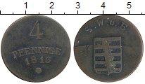 Изображение Монеты Саксен-Веймар-Эйзенах 4 пфеннига 1813 Медь VF+