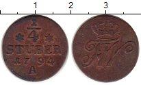 Изображение Монеты Германия Восточная Фризия 1/4 стюбера 1794 Медь XF