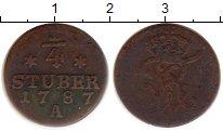 Изображение Монеты Германия Восточная Фризия 1/4 стюбера 1787 Медь VF