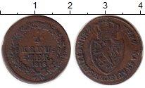 Изображение Монеты Германия Нассау 1/4 крейцера 1818 Медь VF