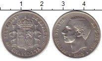 Изображение Монеты Европа Испания 1 песета 1885 Серебро XF-