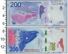 Изображение Банкноты Южная Америка Аргентина 200 песо 2016  UNC