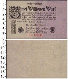 Изображение Банкноты Веймарская республика 2000000 марок 1923  XF-