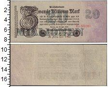 Изображение Банкноты Веймарская республика 20000000 марок 1923  XF-