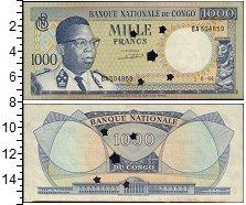 Изображение Банкноты Конго 1000 франков 1964  XF Гашение