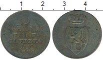 Изображение Монеты Германия Рейсс-Оберграйц 3 пфеннига 1824 Медь VF