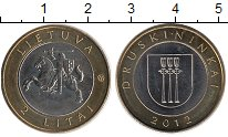 Изображение Монеты Литва 2 лит 2012 Биметалл UNC