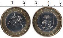 Изображение Монеты Европа Литва 2 лит 2012 Биметалл UNC