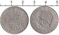 Изображение Монеты Швеция 1 крона 1955 Серебро XF