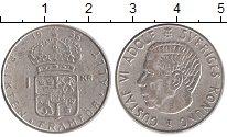 Изображение Монеты Европа Швеция 1 крона 1956 Серебро XF