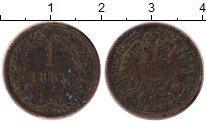 Изображение Монеты Европа Австрия 1 крейцер 1885 Медь VF