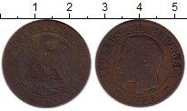 Изображение Монеты Франция 5 сантим 1856 Бронза VF Наполеон III