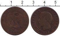 Изображение Монеты Европа Франция 5 сантим 1854 Бронза VF