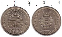 Изображение Монеты Африка Ангола 2 1/2 эскудо 1969 Медно-никель XF