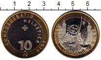 Изображение Монеты Швейцария 10 франков 2014 Биметалл UNC