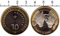 Изображение Монеты Европа Швейцария 10 франков 2012 Биметалл UNC