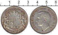 Изображение Монеты Северная Америка Канада 50 центов 1952 Серебро XF