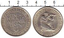 Изображение Монеты Европа Швейцария 5 франков 1939 Серебро UNC-