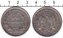 Изображение Монеты Южная Америка Уругвай 50 сентесим 1877 Серебро VF