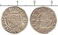 Изображение Монеты Европа Венгрия 1 денарий 1583 Серебро VF