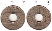 Изображение Мелочь Африка Нигерия 1/10 пенни 1908 Медно-никель XF