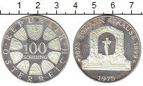 Изображение Монеты Европа Австрия 100 шиллингов 1975 Серебро Proof-